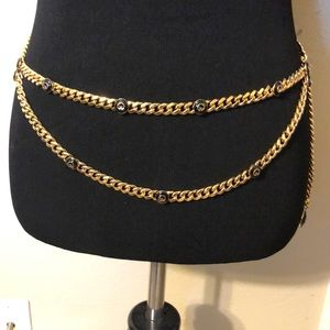 St John Gold Chain Logo Belt
